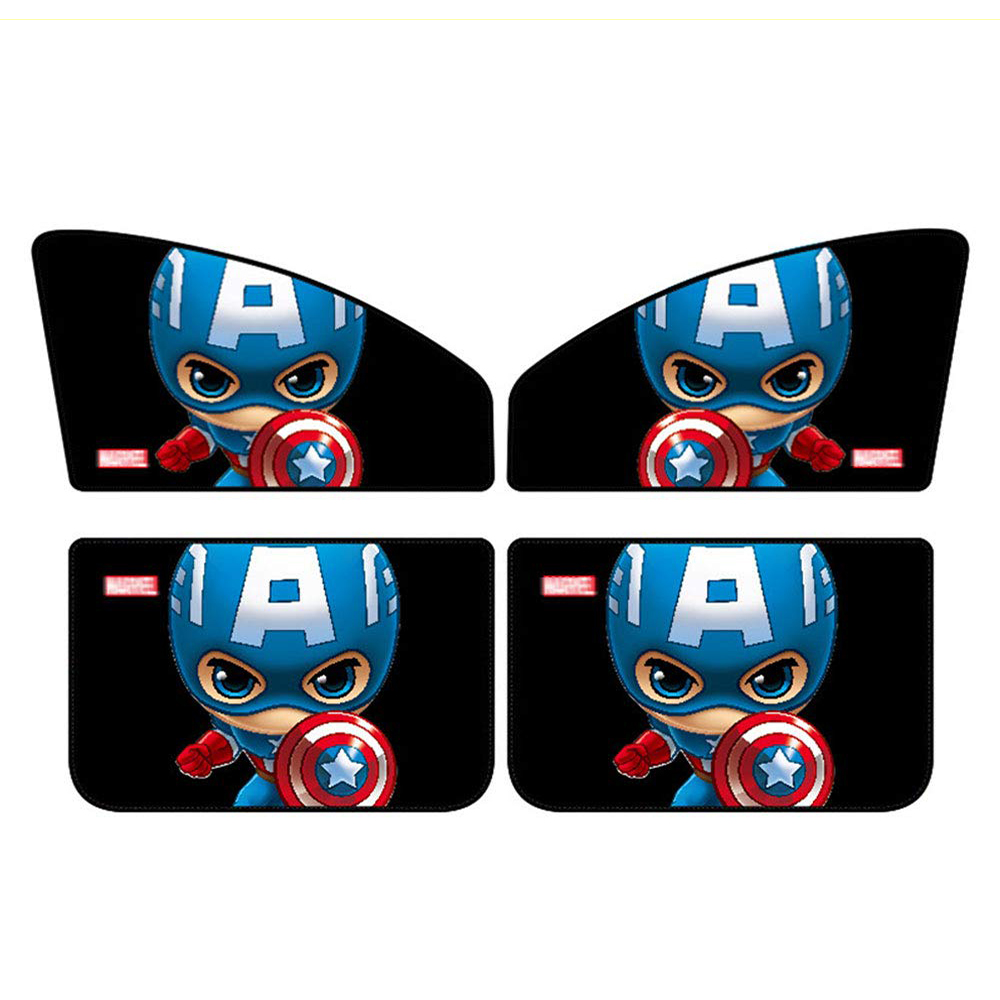 Image 5 - Car Window Sunshade Cover Marvel The Avengers Cartoon Magnetic Side Sun Shade Curtain Universal Side Window Sunshade-in Side Window Sunshades from Automobiles & Motorcycles