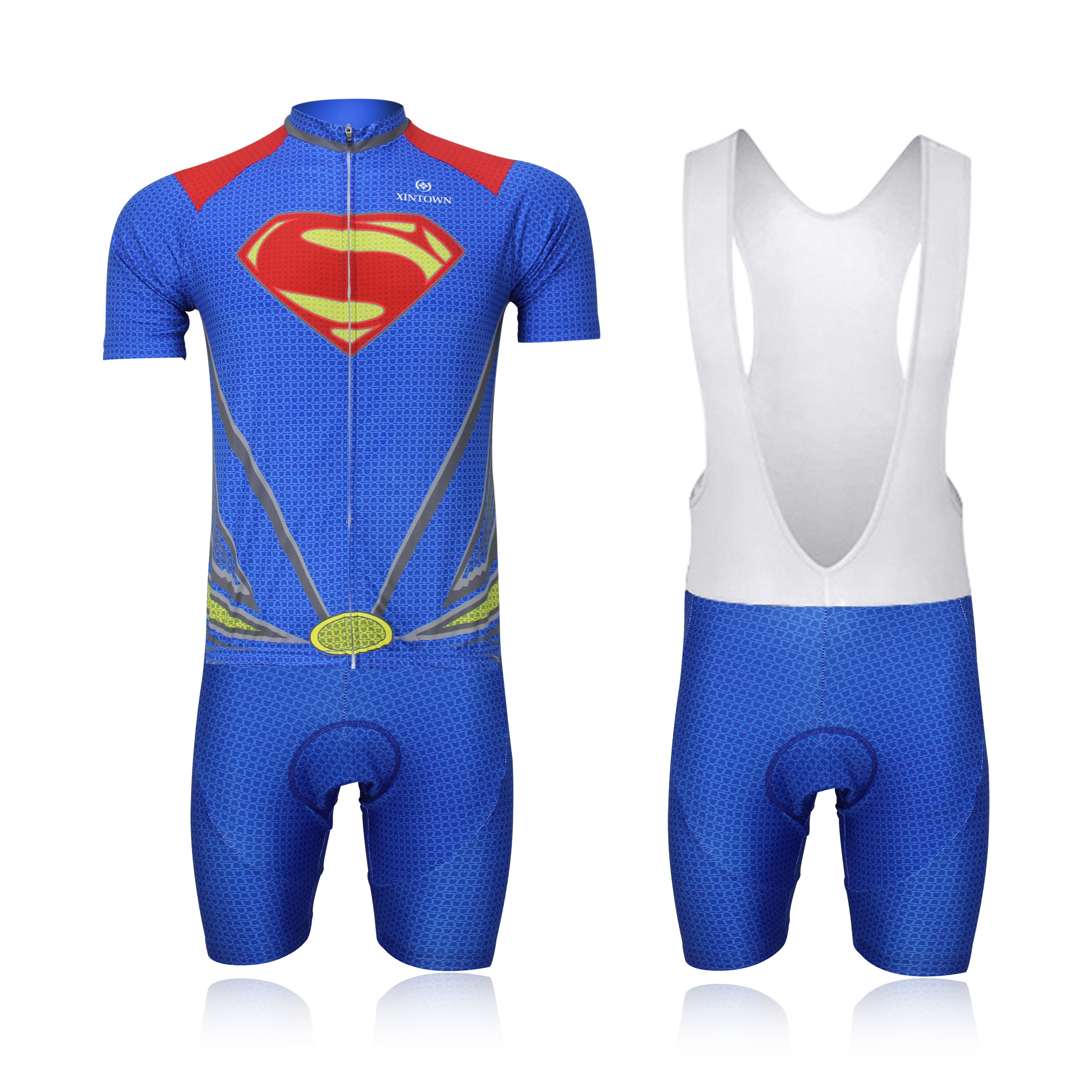 Superman Cycling Jerseys Bike Maillot Ciclismo Cycling Clothing Quick Dry Cycle Short Set Men's Summer Bicycle Clothes Sportwear