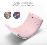 SUN9s 24W Professional UV LED Lamp Nail Dryer UV Lamp Nail Lamp Cure All Gels Arcylic Hard Gels LCD Display Portable Nails Tool