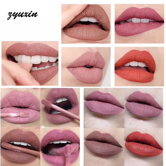 B 16 Colour Zyuxin Good Makeup Liquid Lipstick Cosmetic -6634