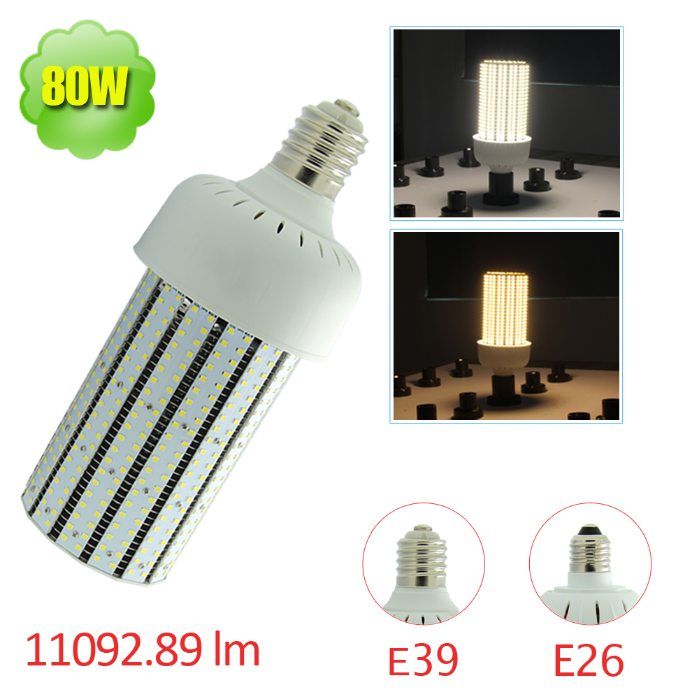 480V 347V LED Corn Bulb 80W Replace 250W HPS Fixture Light E39 Retrofit  Warehouse Parking Lot