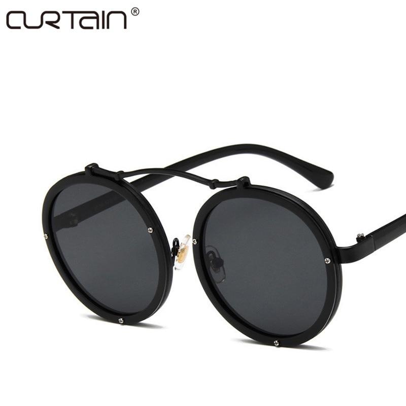 2019 Neue Vintage Frauen Runde Sonnenbrille Frauen Modedesigner Brillen Farbverlauf Männer Weiblich Retro Sonnenbrille Marke VU400