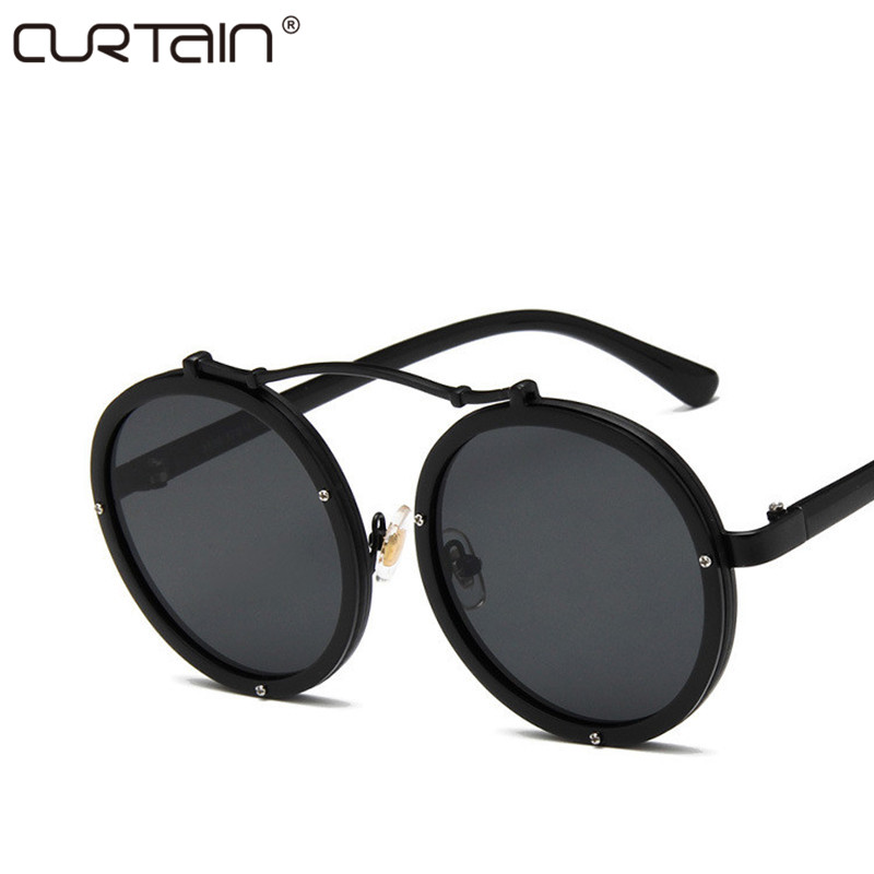 2019 New Vintage Women Sunglasses Round Fashion Fashion Designer Eyewear Gradient Men Female Retro Sun Glasses Brand VU400