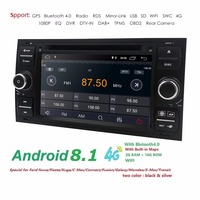 4G Android 8.1 7 DAB+ DVD Radio Player GPS sat nav Navigatio for FORD TRANSIT FOCUS C MAX S MAX FIESTA GALAXY FUSION WiFi 2 din