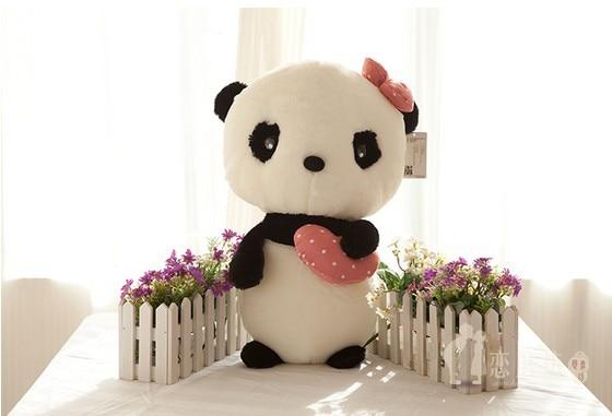 65cm-1pcs Panda plush toy doll cute doll girl standing panda birthday gift wedding gift giant panda stuffed animal free shipping