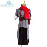 Avatar The Legend of Korra Mako Uniform Coat Jacket Pants For Men Anime Halloween Cosplay Costume Custom Made Grey Version