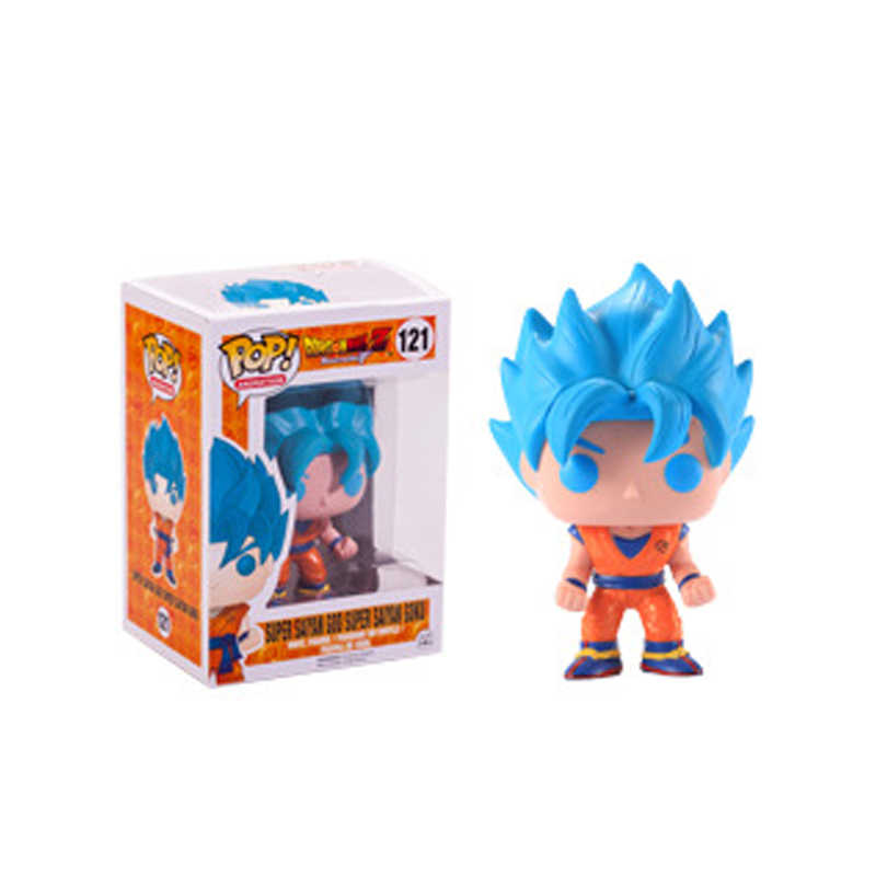 Funko POP Dragon Ball Z SUPER SAIYAN GOD Action Figure SUPER SAIYA GOKU Doll Collectible Model toys for chlidren birthday Gift
