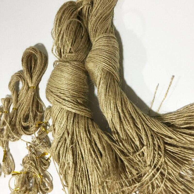 1M Natural Arpillera Yute Cordel Cuerda Trenzada con cuerda de cáñamo lino Rústico 7mm Envoltura De Regalo