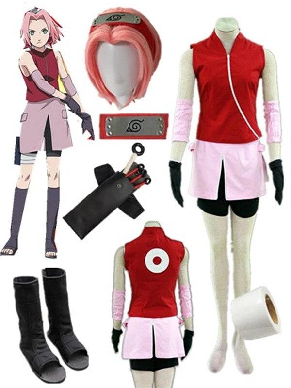 Naruto Shippuden Haruno Sakura Cosplay Costume Halloween