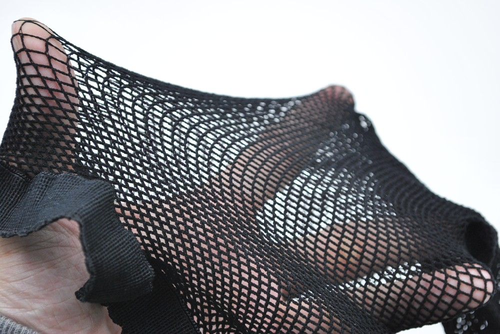 Women's Sexy Backseam Fishnet Pantyhose, Thigh High With Bows Hosiery 8