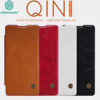 For Sony Xperia XA Case 100 Nillkin Qin PU Leather Flip Luxury Phone Protective Cover Shell