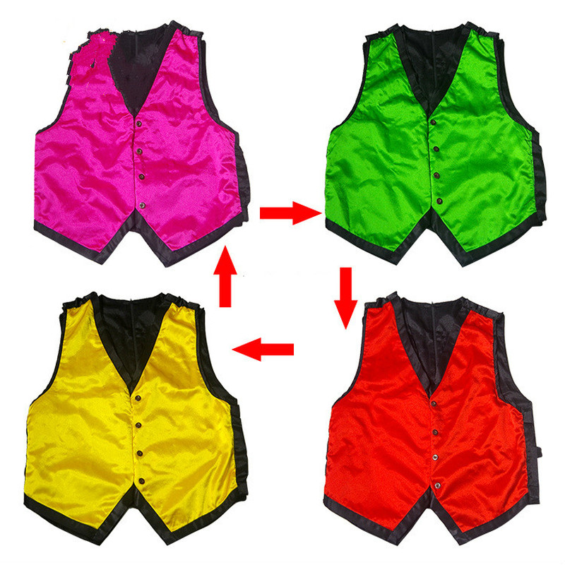 Vest Color Changing Stage mentalism tricks,magic accessories for magicians magic show kit,magic props for stage