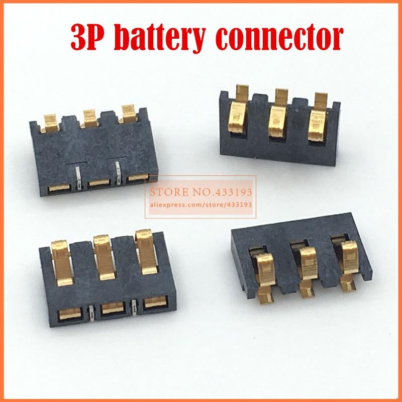 Новый 3-контактный разъем для аккумулятора, 5 шт., замена зажима для мобильных телефонов, для широкого использования, высокое качество