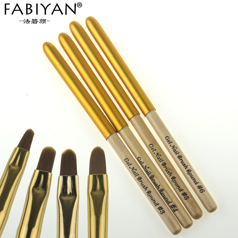 Nail Art Brush Drawing Painting Carving Pen Round Design Flower Tips UV Gel Polish Acrylic Builder Wooden Handle Manicure Tools цена