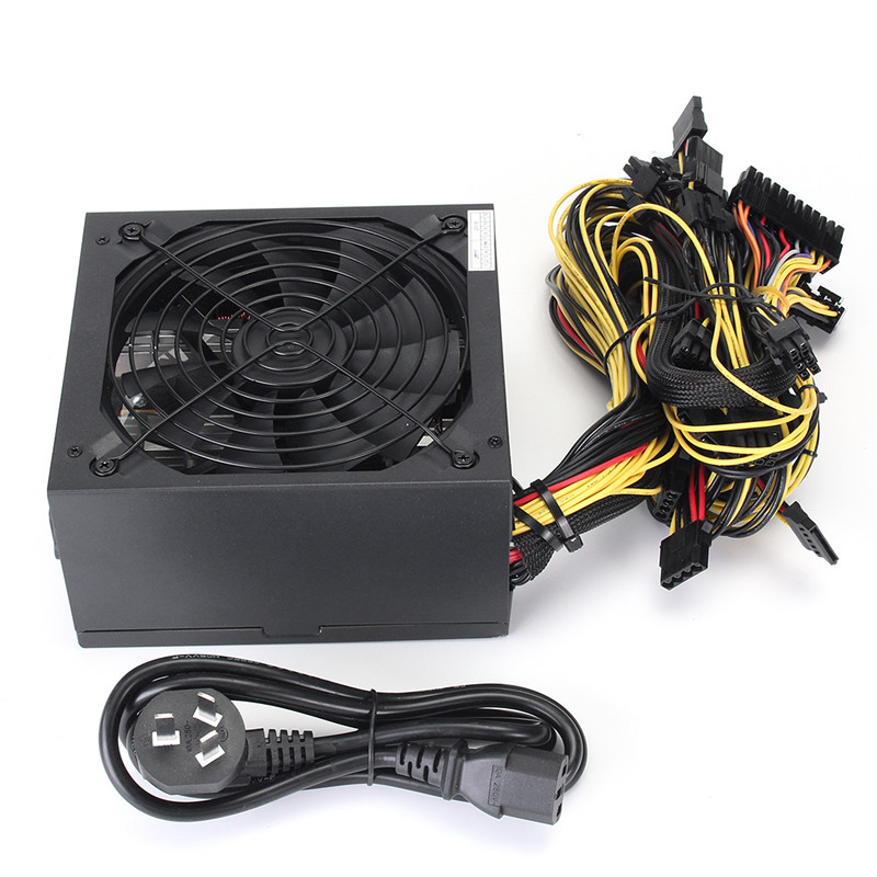 90 Plus Efficiency 1600W Computer PC Power Supply For ATX Mining Machine Bitcoin Miners Support 6