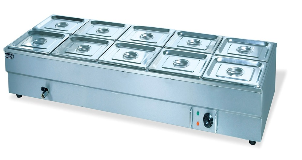 Commercial 12pans Bain Marie Food Warmer Countertop Soup