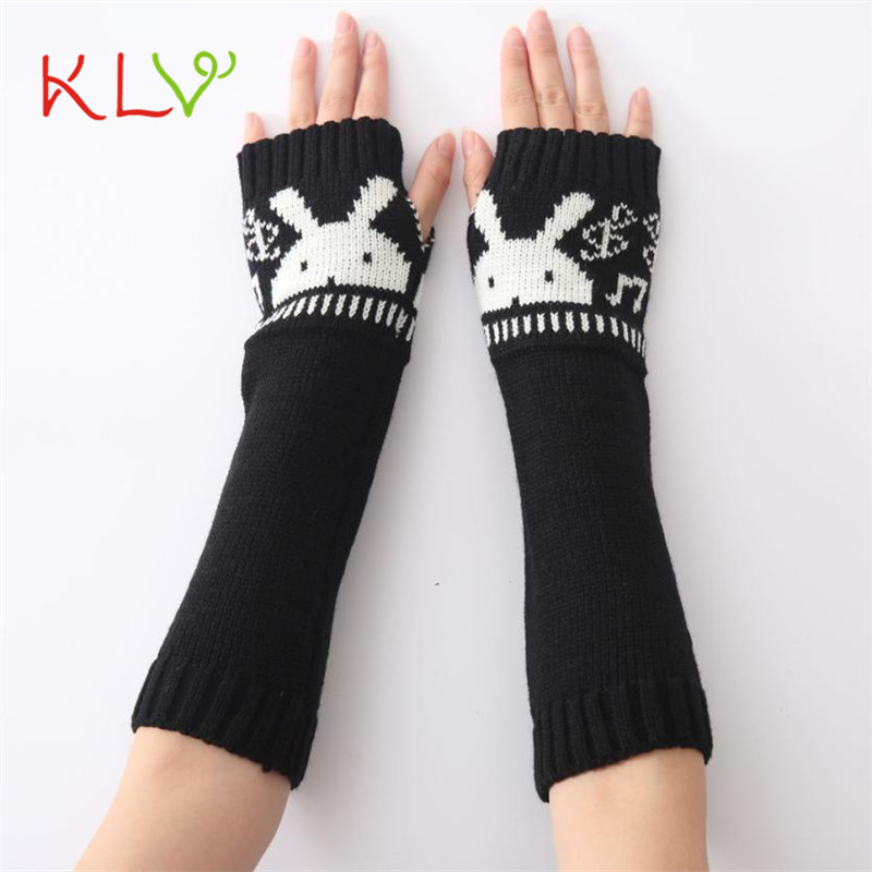 Women Fashion Knitted Arm Sleeve Fingerless Winter Gloves Soft Warm Mitten Fashion Accessories unisex 17Aug21