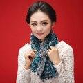 Зима женщины леди рекс кролика шею мода шарм теплее шарфа мыс платок украл пончо накидка плечами шарф женщины