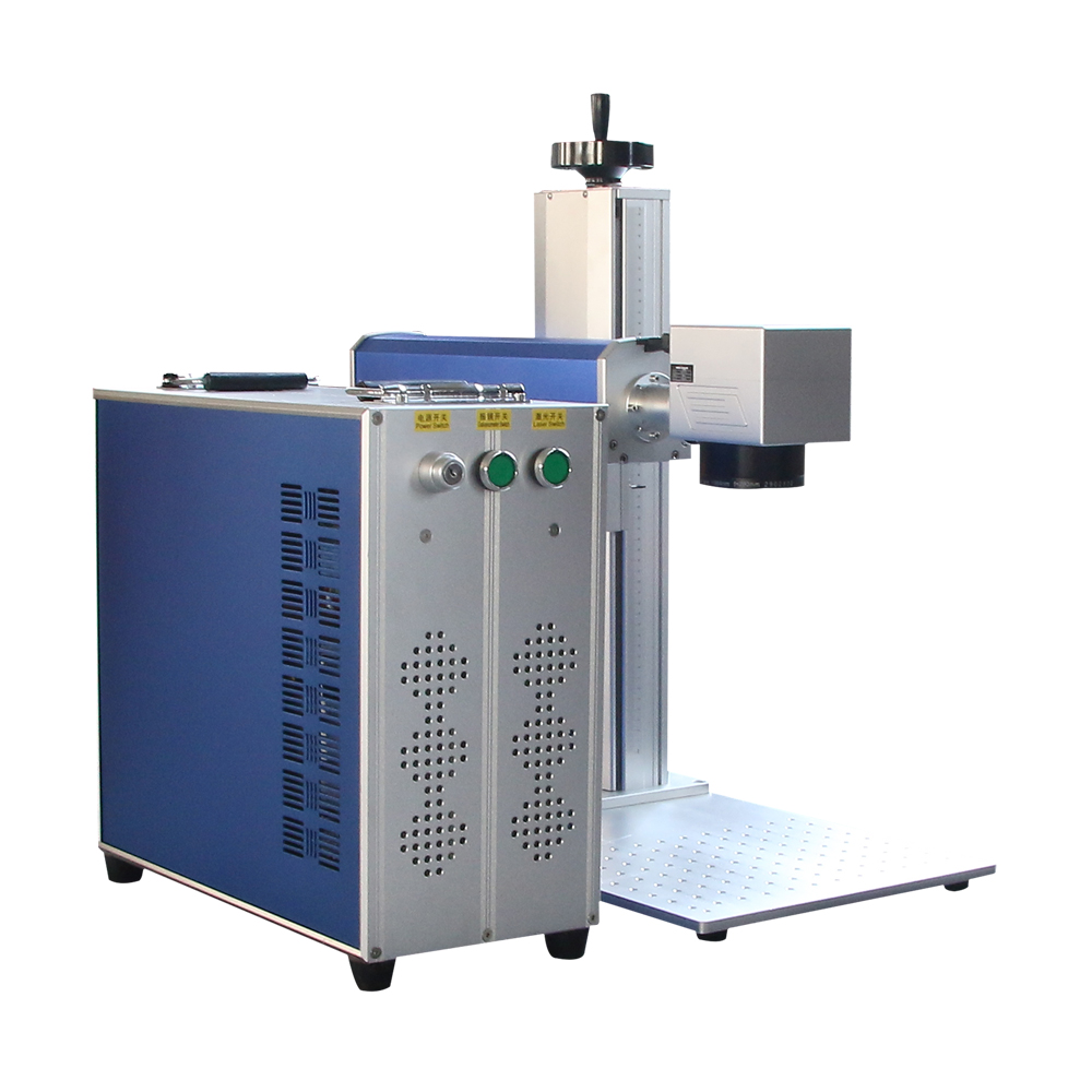 JINZHIYIN 20W 30W 50W Protable Fiber Laser Marking Machine For Separate Back Cover Glass Laser Metal Engraving