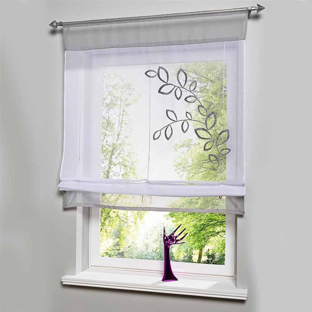 Ventas calientes bordar voile cortinas cortinas para la - Cortina ventana cocina ...