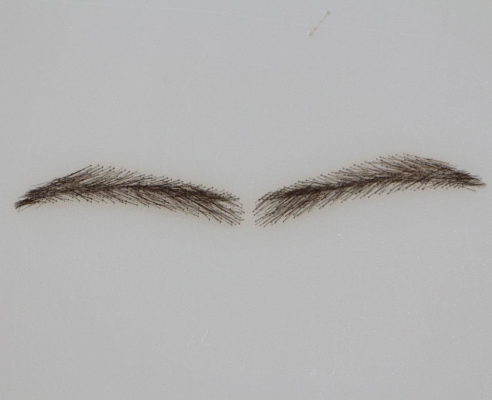 2017 Real Eyebrow Eyebrow Direct Selling Sobrancelha 04angela Dark Natural Hair Hand Made Fake 2pcs/lot Eyelash Extensions