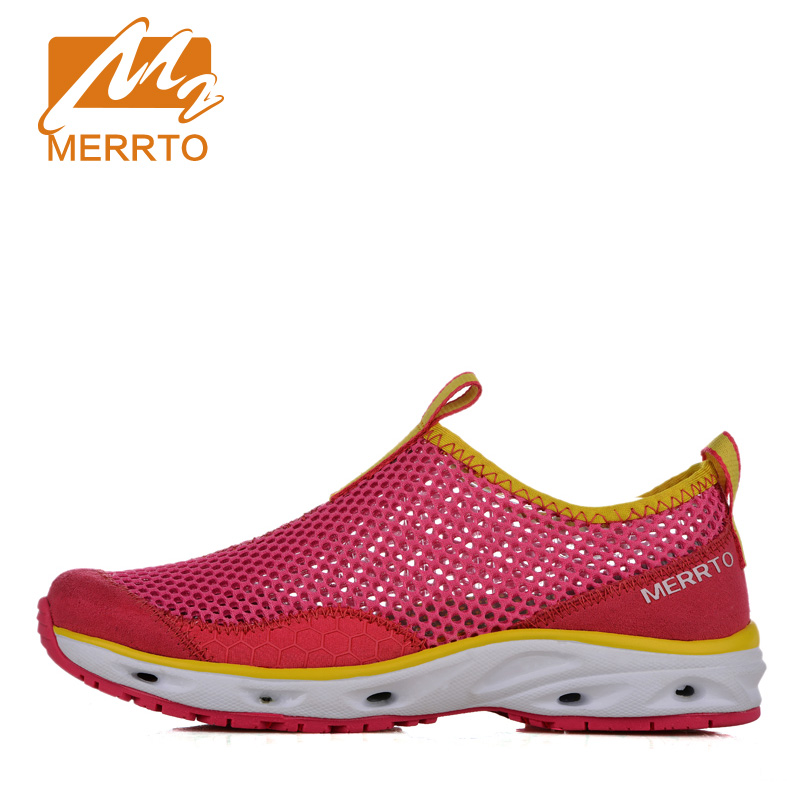 ФОТО 2017 Merrto Lovers Walking Shoes lightweight Sneakers Outdoor Shoes Mesh For Lovers Free Shipping MT18601/MT18600