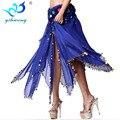 New Women Belly Dancing Skirt Long Irregular Sequin Ballroom Indian Dance Clothes Practice Performances Dancewear Long Skirt