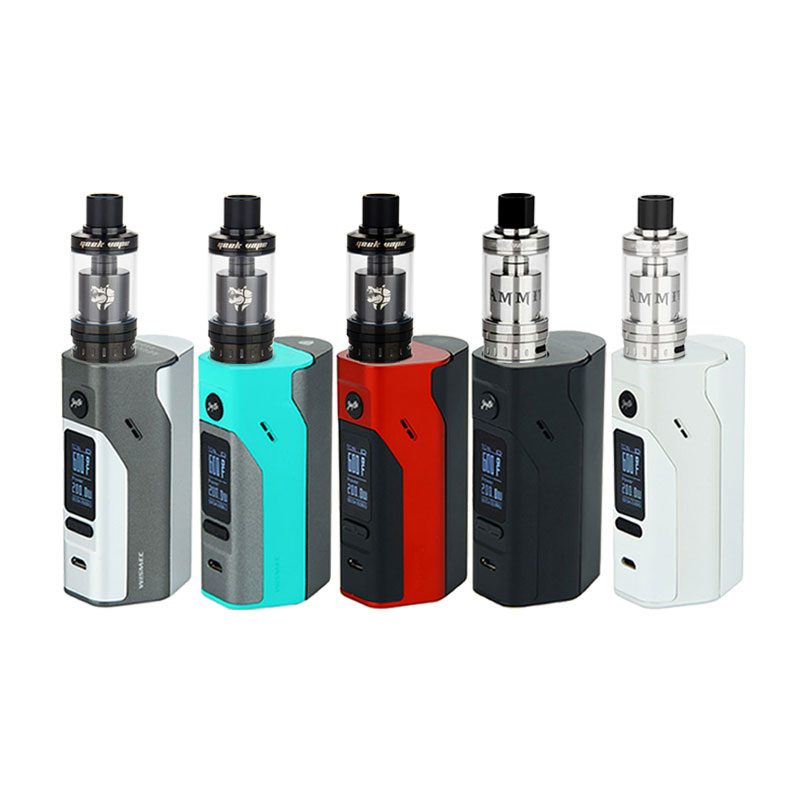 ФОТО Original WISMEC Reuleaux RX2/3 Starter Kit with Geekvape Ammit Atomizer 3.5ml Vaping RX23 TC BOX MOD 200W vs Smok Alien Kit