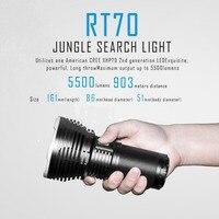 SUNSAVER IMALENT RT70 CREE XHP70 интеллектуальные Перезаряжаемые фонарик джунгли поиск 5500 люмен 903 м расстояние