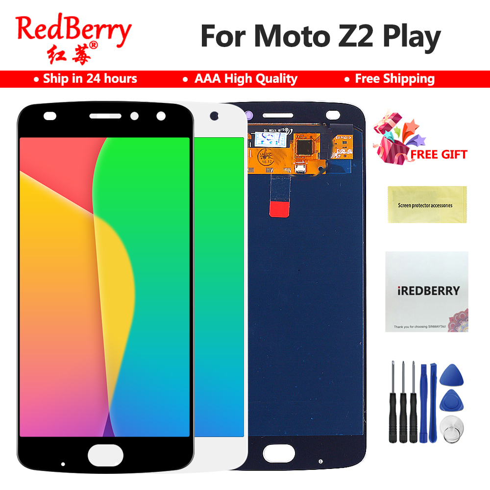 5 5 OLED Display For Motorola Moto Z2 Play Display Touch Screen Replacement for Moto Z2
