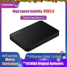 توشيبا القرص الصلب المحمولة 1 تيرا بايت 2 تيرا بايت شحن مجاني أجهزة الكمبيوتر المحمولة القرص الصلب الخارجي 1 تيرا بايت ديسك دور hd Externo USB3.0 HDD 2.5 القرص الصلب