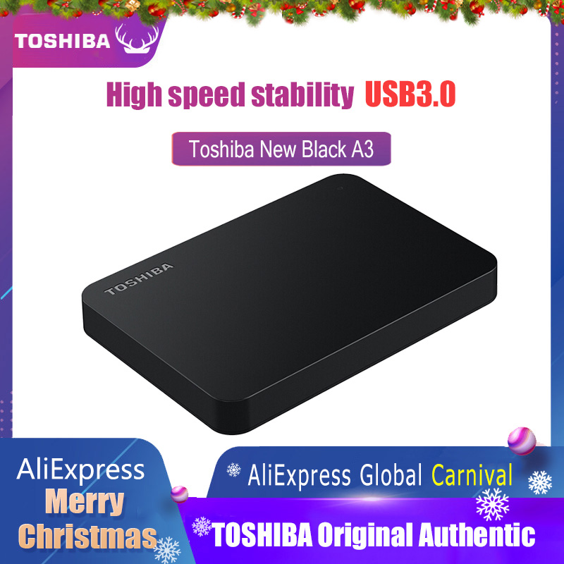 Toshiba Hard Disk Portable 1TB 2TB Free shipping Laptops External  Hard Drive 1 TB Disque dur hd Externo USB3.0 HDD 2.5 HarddiskExternal  Solid State Drives