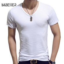NIBESSER Brand Simple Tee Men Solid T Shirts Men Short Sleeve Tee Shirts Male Quick Dry