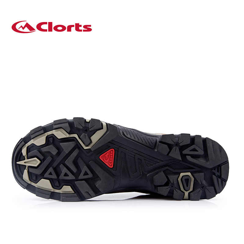 d2a620bef81 Clorts Men Hiking Shoes Outdoor Climbing Shoes Waterproof Outdoor Trekking  Shoes Genuine Leather Mountain Shoes For Men HKL-805A