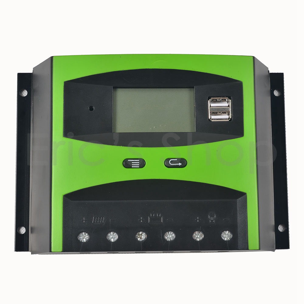 PWM 50A Solar Controller Charger 48V Auto Power Regulator with LCD Display and 5V USB Output 12v 24v 40a mppt pwm solar regulator with lcd display usb intelligent streetlight three time solar charge controller y solar