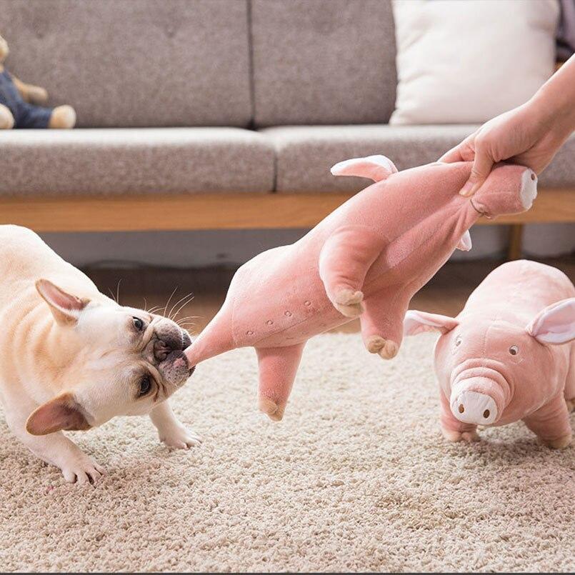 Parceiro para Dormir Brinquedo Engraçado Para Animais de Estimação do cão  do Filhote de Cachorro de Pelúcia Curto Little Pig Bonito Design Pet Pillow  ... 0847fb5cdf