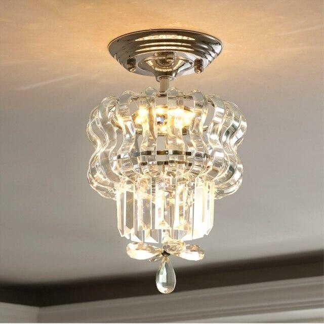 Simple LED Crystal Ceiling Light Fixture
