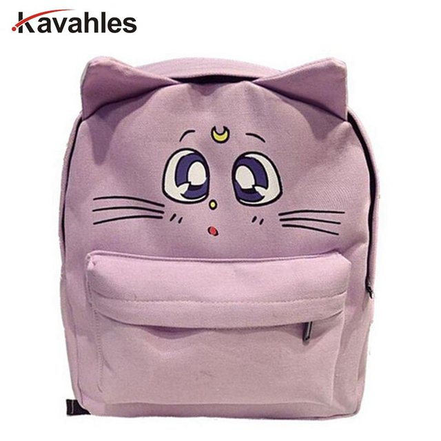 2017 Designer Women Canvas Backpacks Cat Eyes Animal Printing School Bags For Teenagers Girl Rucksack Laptop Bagpack Mochilas