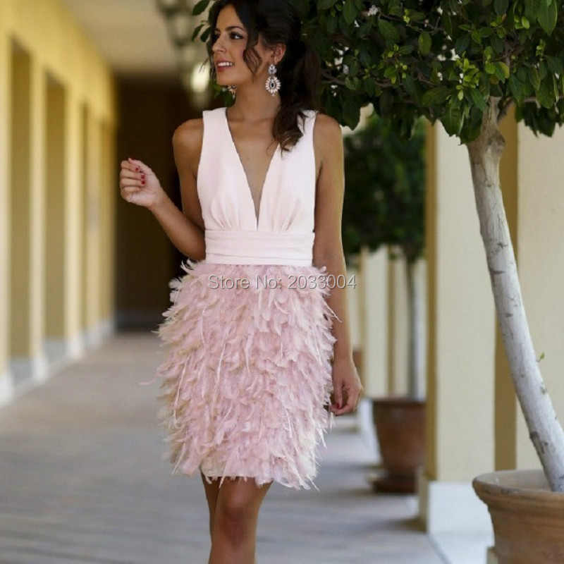 Compare Prices on Pink Feather Dress- Online Shopping/Buy Low ...