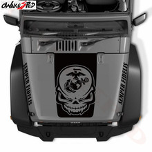 3 Pc. Skull Marines Globe Styling Sticker Semper Fidelis Graphics Vinyl Decal Car Hood Decor For Jeep Wrangler
