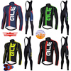 Crossrider Winter Thermal Fleece Team ALE Cycling Jersey Set 9d Gel Clothing Pro Maillot Ropa Ciclismo