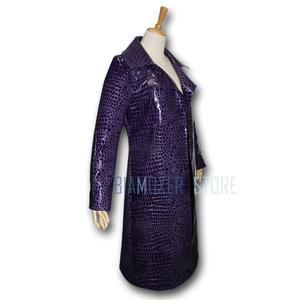 Image 4 - Biamoxer uniforme de Suicide Joker pour hommes, Costumes de Cosplay, Trench Coat veste violette t shirts Clown vert pour fête dhalloween