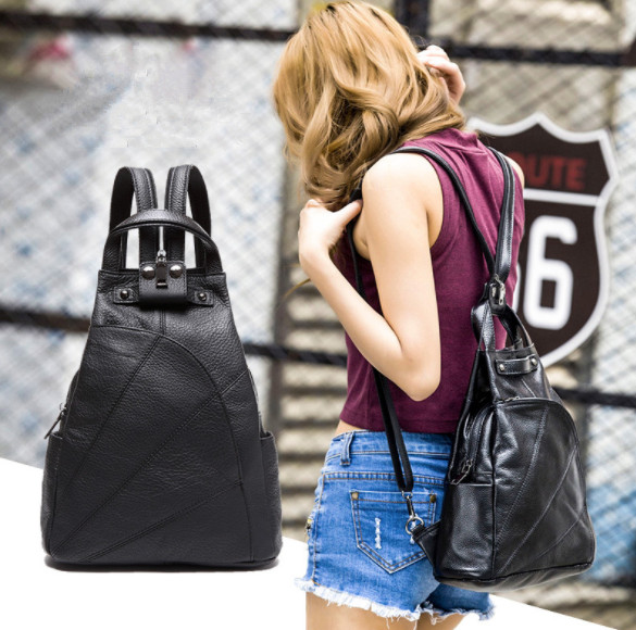 Fashion Women Backpack Genuine Leather Backpacks for Teenage Girls Female School Shoulder Bag Bagpack mochila Female travel bags цена