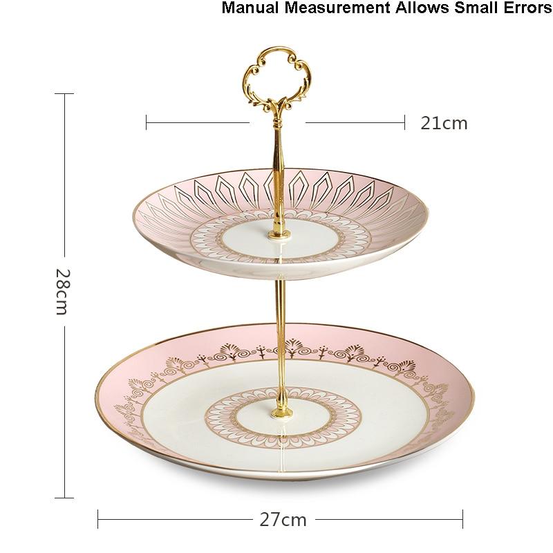 Скандинавский стиль двухслойная подставка для торта керамическая столовая посуда из китайского фарфора фруктовый торт десертная тарелка ... - 3