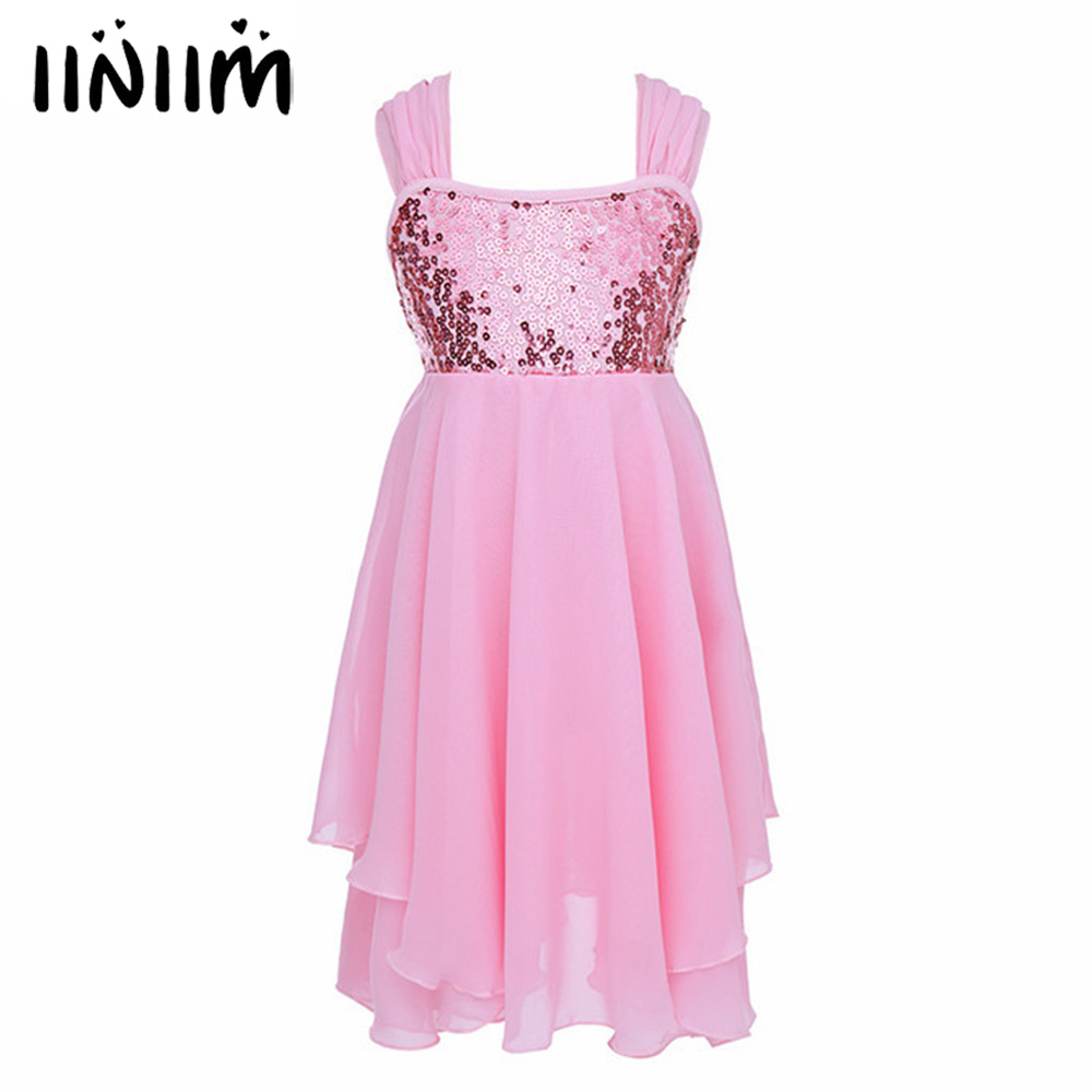 iiniim Children's Kids Ballet Tutu Dress Chiffon Gymnastics Leotard Gilrs Dresses for Kids Ballet Performance Costumes Dancewear