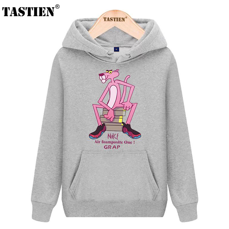 TASTIEN 2018 New Fashion Cute Women Sweatshirts Pink Panther Printed Cotton  Girls Hoodies Cool Loose Pullovers Womens Mens Tops-in Hoodies   Sweatshirts  ... 9354bc1b1