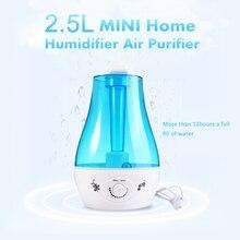 Stylish Design Air Humidifier 25W Practical 2.5L Aroma Diffuser Ultrasonic Humidifier for Home Mist Maker Fogger  EU / US Plug