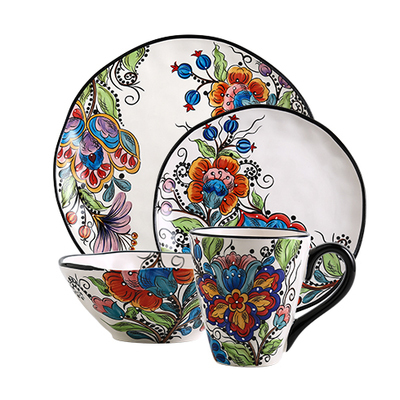Bohemian Hand-painted Ceramic Tableware
