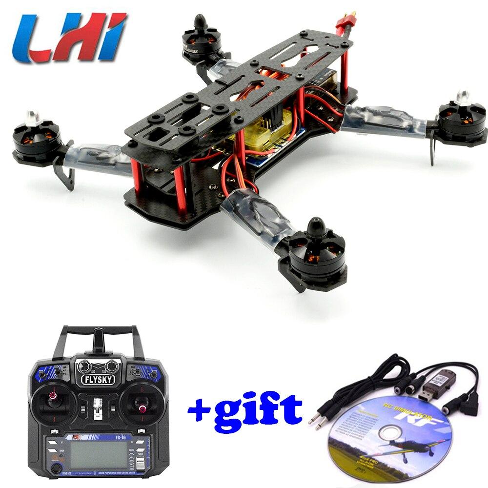 Drones quadrotor Carbon Fiber FPV drone with camera hd Quadcopter for QAV250 Frame Flysky FS-I6 dron rc helicopter professional стоимость