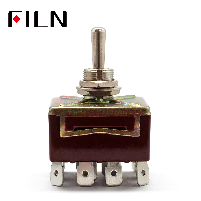 ONOFFON 3 Positions 12 Pins Self-lock Toggle Switch 4PDT 15A 250VAC image